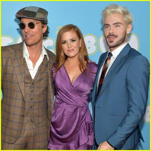 Matthew McConaughey, Isla Fisher, & Zac Efron Step Out for 'Beach Bum' Premiere