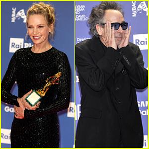 Uma Thurman & Tim Burton Honored at David di Donatello Awards 2019