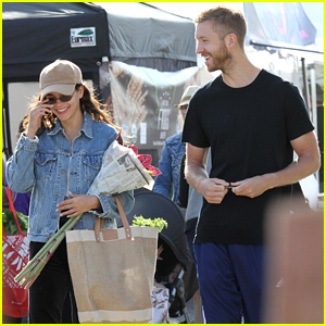 Calvin Harris & Girlfriend Aarika Wolf Look Smitten at the Farmers' Market