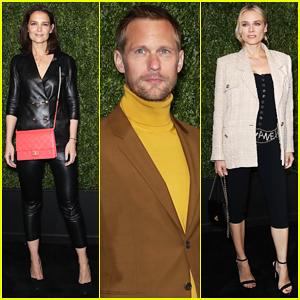 Katie Holmes, Alexander Skarsgard & Diane Kruger Step Out for Chanel's Tribeca Film Fest Dinner!