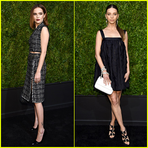 Zoey Deutch & Angela Sarafyan Strike a Pose at Chanel's Tribeca Film Festival Dinner
