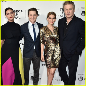 Morena Baccarin & Ben Mckenzie Join Alec & Hilaria Baldwin at 'Framing John DeLorean' Screening