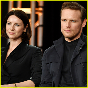 Sam Heughan & Caitriona Balfe Promote 'Outlander,' Tease What Is To Come in Season 5!