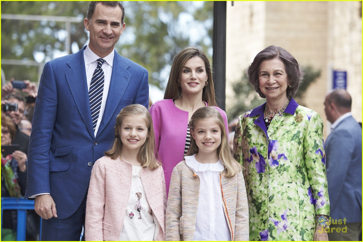 Princess Leonor Of Spain Attends Easter Mass With Spanish