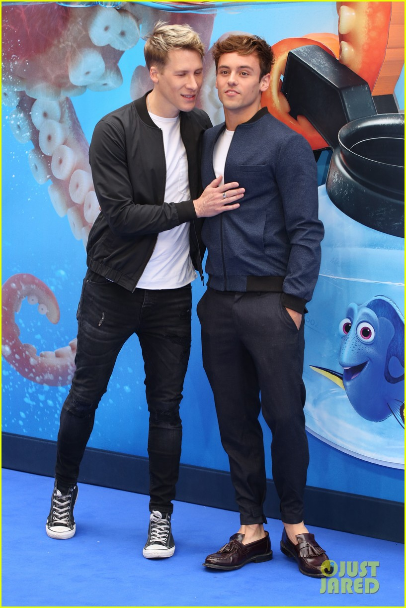 Tom Daley Amp Dustin Lance Black Swim Into Finding Dory