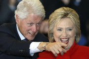 Fellow presidential candidate Hillary and her husband, former democratic president Bill Clinton attended the Trump's wedding. Clinton and Trump are now competing against each other in the presidential race and frequently exchange insults. (Photo: Reuters)