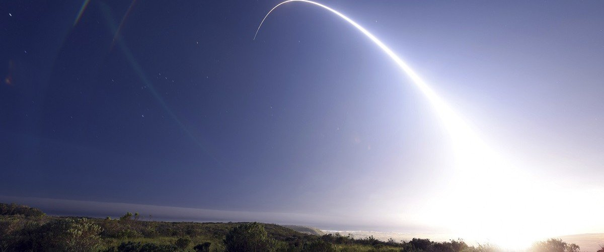 An unarmed Minuteman III intercontinental ballistic missile launches during an operational test from Vandenberg Air Force Base, California at 11:01 p.m. On February 25, 2016. The unarmed Minuteman III missile blasted off from a silo at Vandenberg Air Force Base in California late on Thursday, headed toward a target area near Kwajalein Atoll in the Marshall Islands of the South Pacific.   REUTERS/Kyla Gifford/U.S. Air Force Photo/Handout via Reuters.