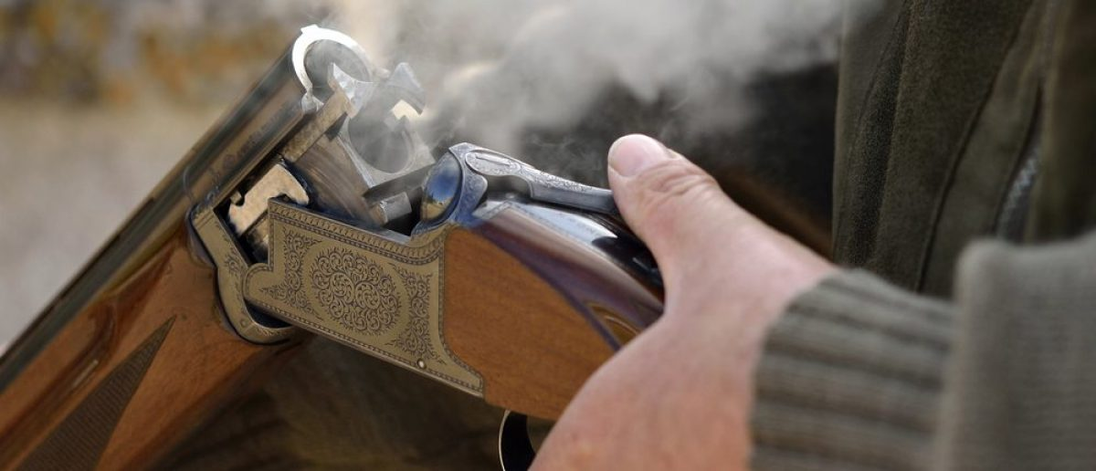 A smoking 12 bore shotgun having ejected spent a cartridge. (Max Earey/Shutterstock)