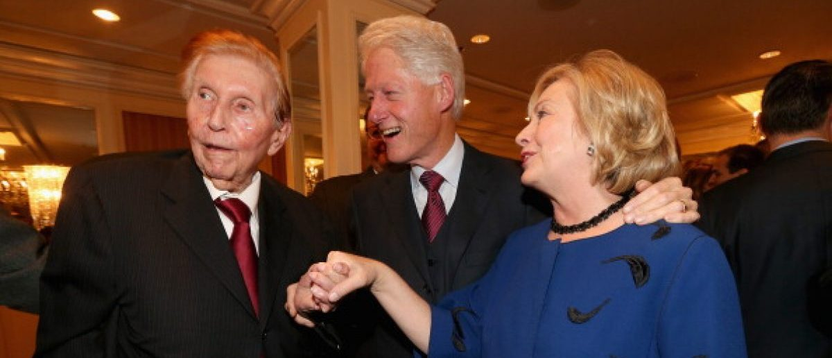 Image result for sumner redstone hillary clinton