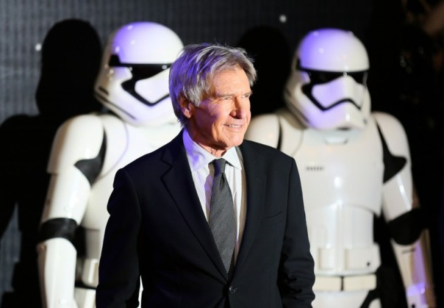 Harrison Ford arrives at the European Premiere of Star Wars, The Force Awakens in Leicester Square, London, December 16, 2015. REUTERS/Paul Hackett/Files