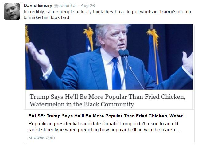David Emery shows anti-Trump bias (Screenshot/Twitter)