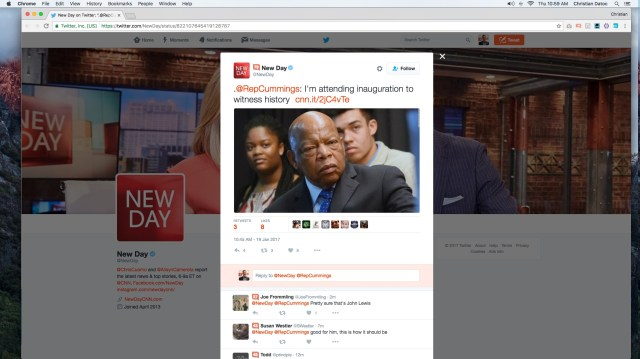 CNN New Day Twitter screenshot