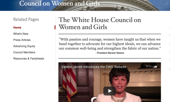 The White House Council On Women and Girls (Screenshot/White House)