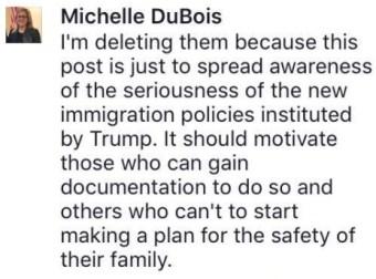 screenshot: Rep. Michelle DuBois Facebook