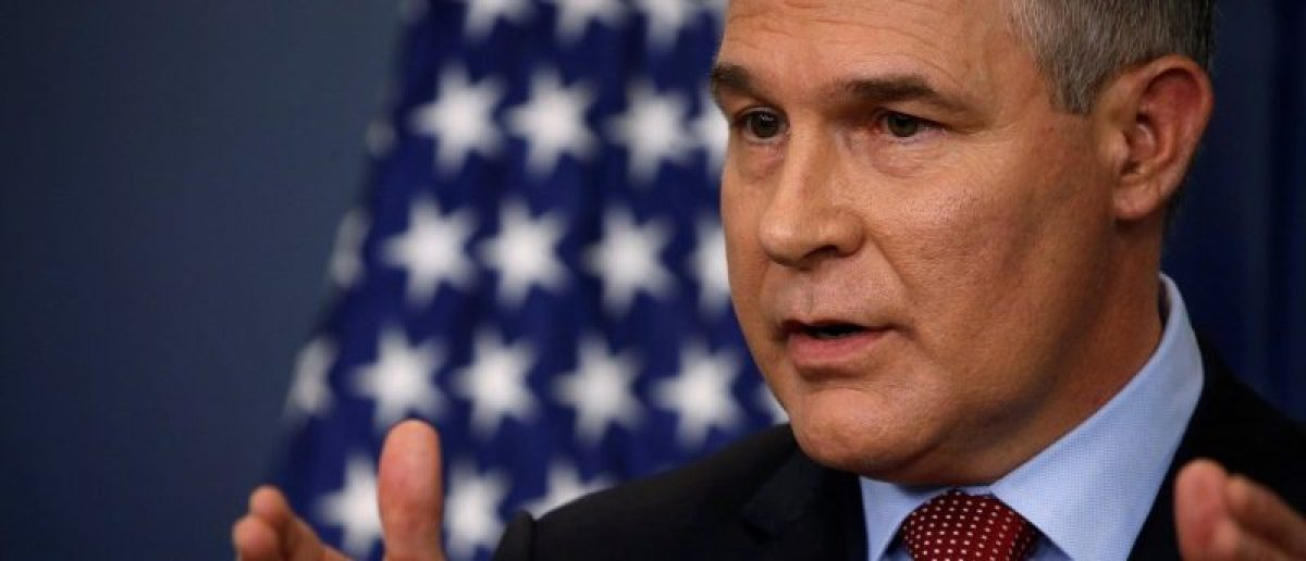 REFILE - UPDATING SLUGEnvironmental Protection Agency (EPA) Administrator Scott Pruitt takes questions about the Trump administration's withdrawal of the U.S. from the Paris climate accords during the daily briefing at the White House in Washington, U.S. June 2, 2017.  REUTERS/Jonathan Ernst