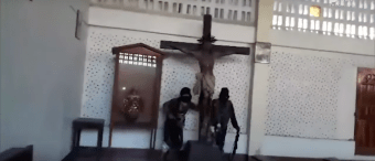 ISIS Members Destroy Catholic Church In Philippines [VIDEO]