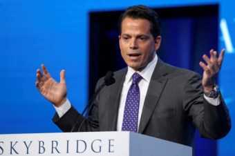Anthony Scaramucci, Founder and Co-Managing Partner at SkyBridge Capital, speaks during the opening remarks during the SALT conference in Las Vegas, Nevada, on May 17, 2017. REUTERS/Richard Brian/File Photo