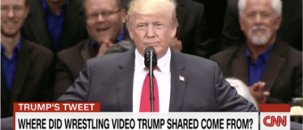 Trump's Body-Slam Tweet Drives Four Days Of CNN News Coverage [VIDEO]