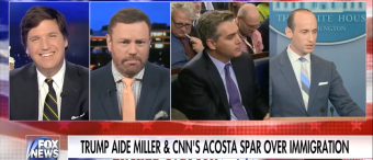 Tucker Carlson Calls Jim Acosta The 'Drunk Guy At The Party With Bad Breath Who Won't Stop Talking' [VIDEO]