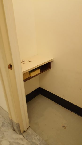 Wasserman Schultz's laptop was left in an old phone booth in the Rayburn building like this one. / Photo: DCNF Rosiak