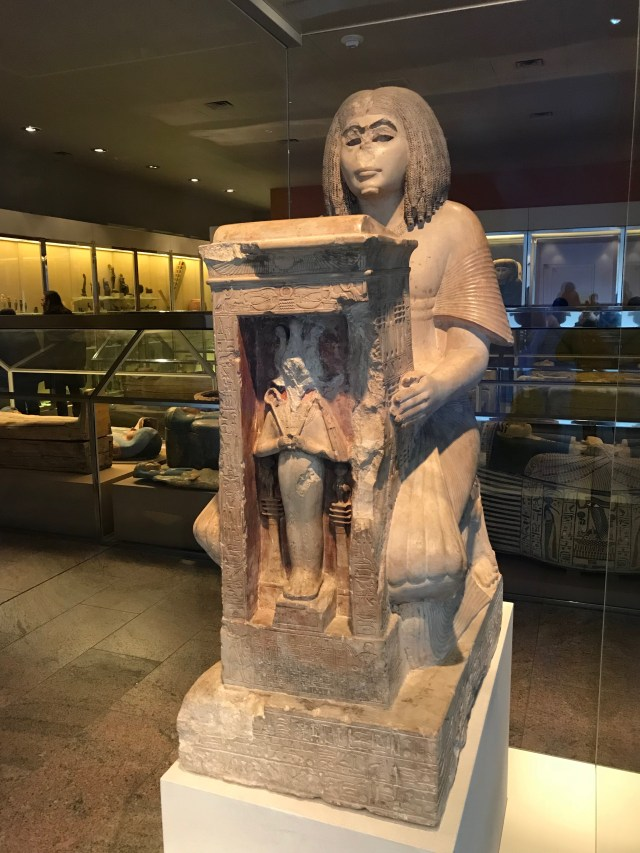 The Kneeling Statue of Yuny, housed in the Sackler Wing of the Metropolitan Museum of Art in New York City. (DCNF/Ethan Barton)