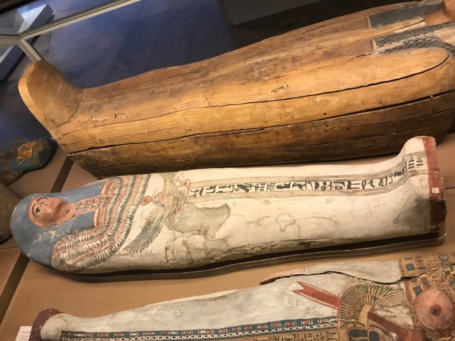 Sarcophagi in the Sackler Wing of the Metropolitan Museum of Art in New York City. (DCNF/Ethan Barton)