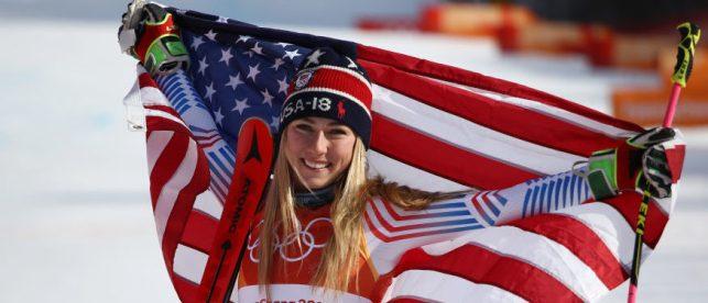 Mikaela Shiffrin American flag e