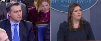 Sarah Sanders Shuts Down CNN's Acosta By Bringing Up The Elephant In The Room