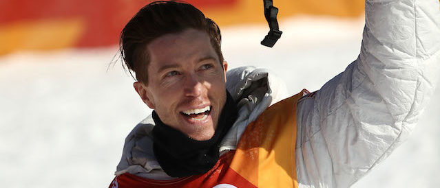Shaun White of the United States reacts after his run during the Snowboard Men's Halfpipe Qualification on day four of the PyeongChang 2018 Winter Olympic Games at Phoenix Snow Park on February 13, 2018 in Pyeongchang-gun, South Korea.  (Photo by Ryan Pierse/Getty Images)