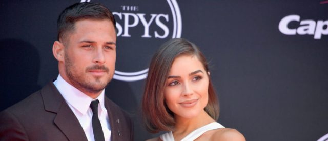 LOS ANGELES, CA - JULY 12:  NFL player Danny Amendola and model Olivia Culpo attend The 2017 ESPYS at Microsoft Theater on July 12, 2017 in Los Angeles, California.  (Photo by Matt Winkelmeyer/Getty Images)