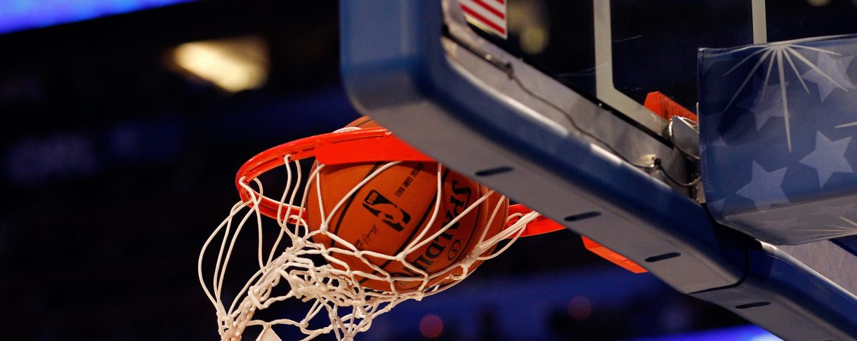 A detail of an official Spalding basketball going through the net with an official logo of the 2012 Orlando NBA All-Star Game during the 2012 NBA All-Star Game at the Amway Center on February 26, 2012 in Orlando, Florida.  (Photo by Ronald Martinez/Getty Images)