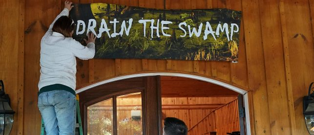 Drain The Swamp Sign Roy Moore Reuters e