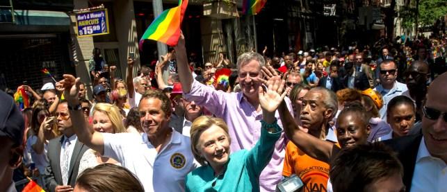 hillary clinton andrew cuomo pride parade