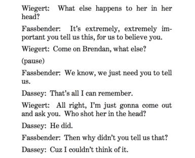 Transcript of the March 1 Dassey interrogation. (Screenshot/Dassey cert petition)