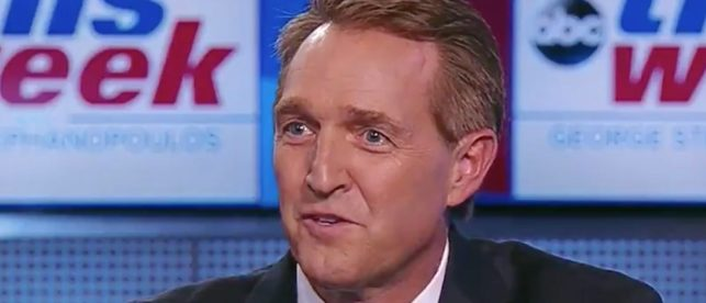 Sen. Jeff Flake Claims 'The Press Has Stood Up Well' Against Trump — After Supremely Bad Week For Media