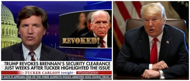 Trump Quotes Fox Host Tucker Carlson In Tweet Attacking Former CIA Director John Brennan