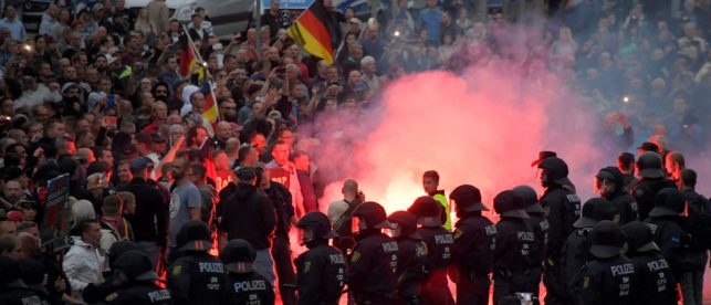 Thousands Of Protesters March In Germany Against Angela Merkel's Immigration Policy