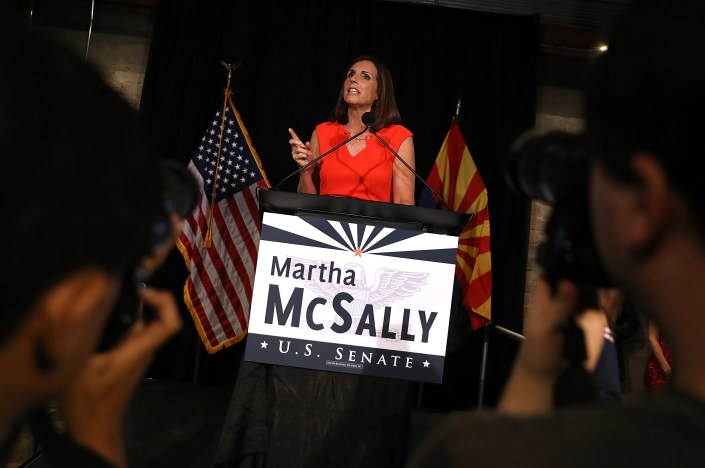 Arizona GOP Senate Candidate Martha McSally Attends Primary Night Event In Tempe