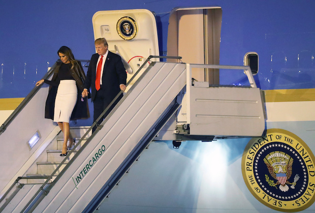 U.S. President Donald Trump and first lady Melania Trump arrive ahead of the G20 leaders summit in Buenos Aires, Argentina November 29, 2018. REUTERS/Martin Acosta