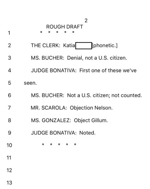 Palm Beach County transcript