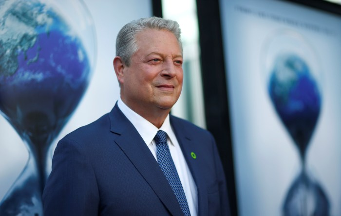 """Former U.S. Vice President Gore attends a screening for """"An Inconvenient Sequel: Truth to Power"""" in Los Angeles"""