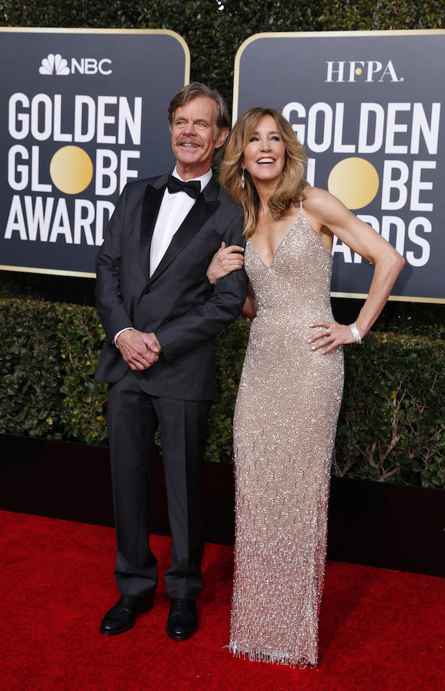 76th Golden Globe Awards - Arrivals - Beverly Hills, California, U.S., January 6, 2019 - William H. Macy and Felicity Huffman. REUTERS/Mike Blake