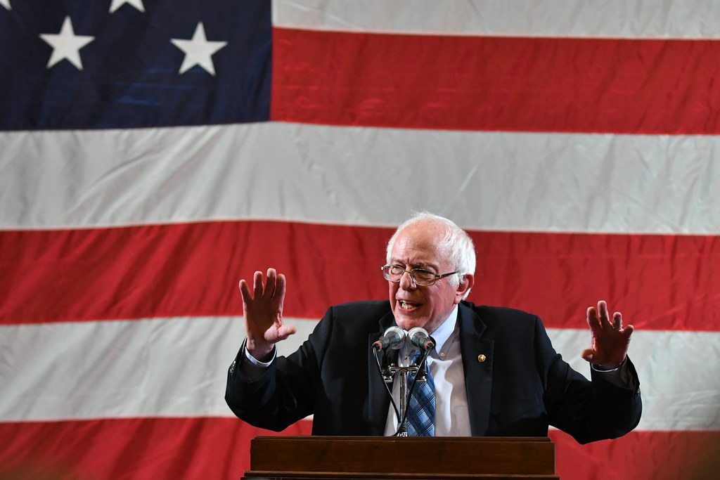 Sen,. Bernie Sanders Speaks To Supporters by jeffgauthier99 is licensed under CC PDM 1.0