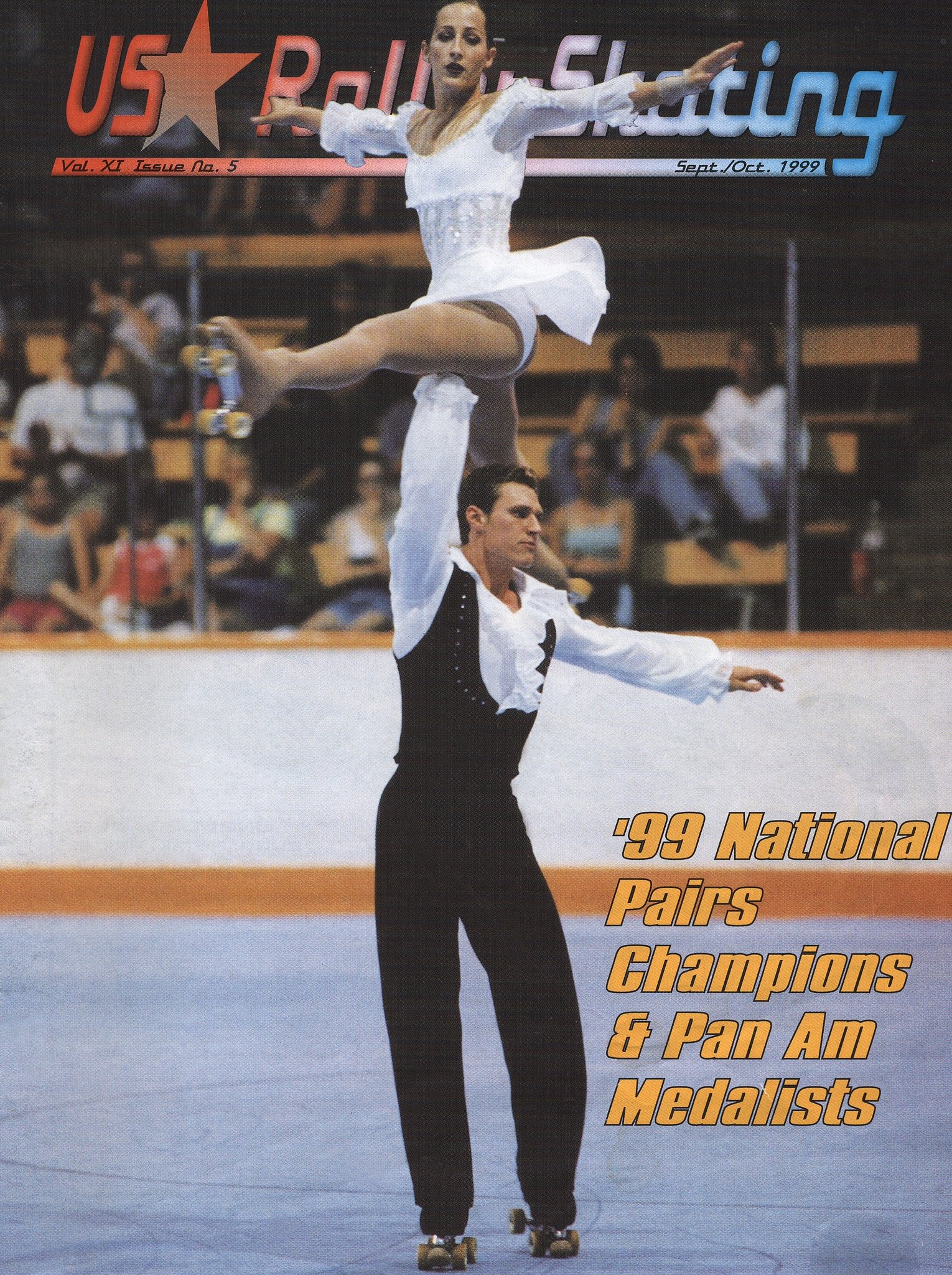 April featured on the cover of US Roller Skating's September/October 1999 Issue