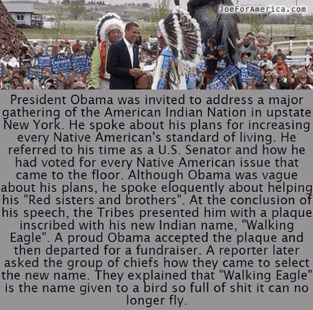 No Tribal Leaders Didn T Give Barack Obama A Derogatory Native