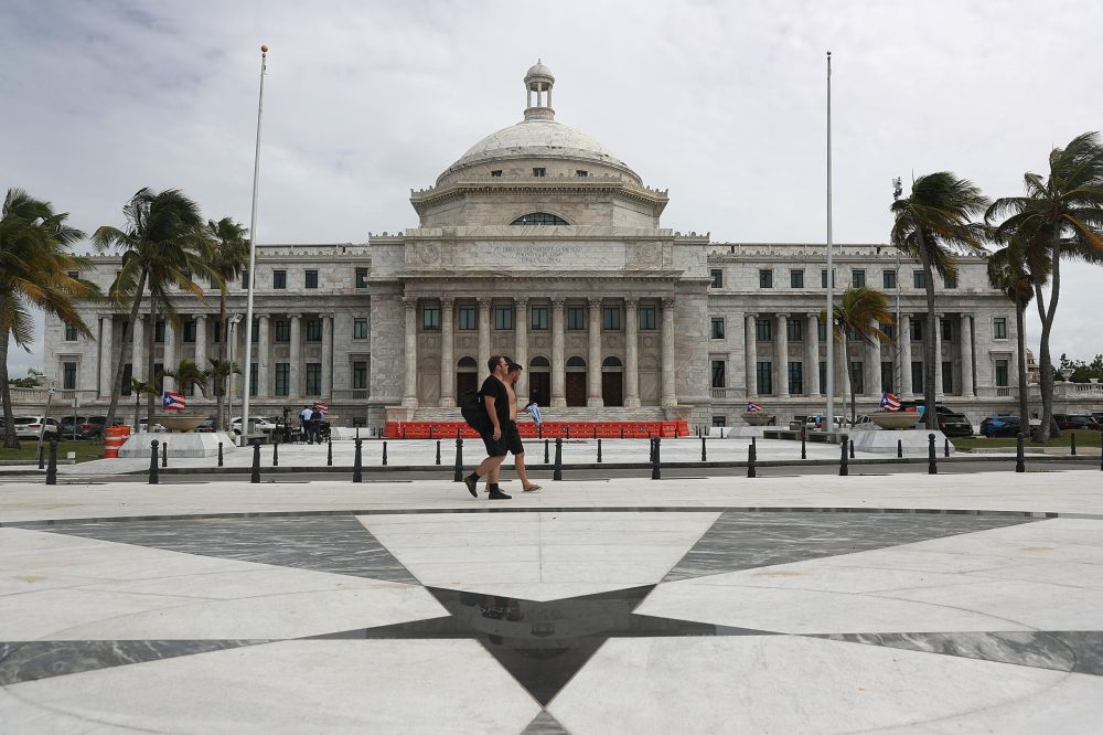 The Puerto Rican Capitol building is pictured in Old San Juan, Puerto Rico in 2019. (Joe Raedle/Getty Images)