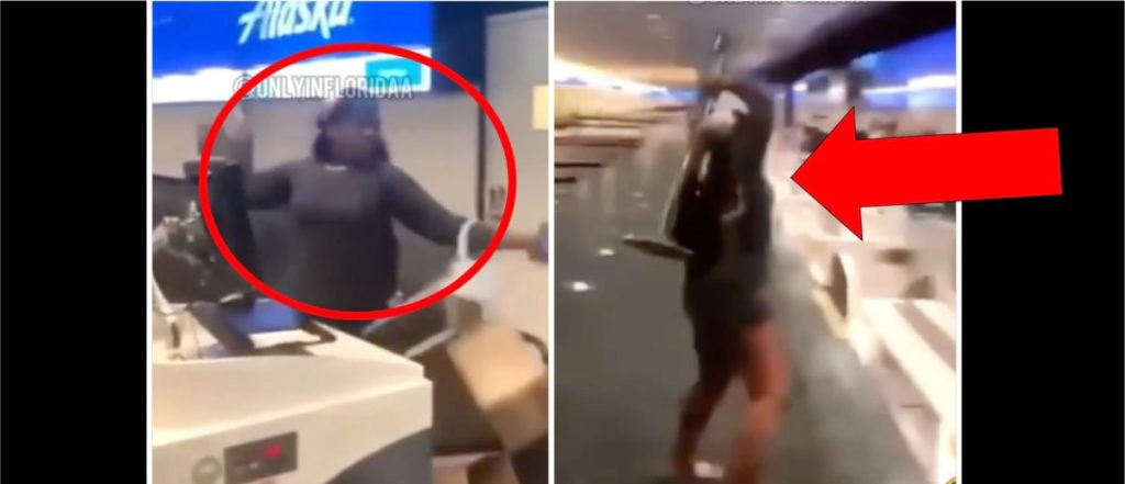 WATCH THIS:Woman Goes Ballistic In An Airport In Wild Viral Video