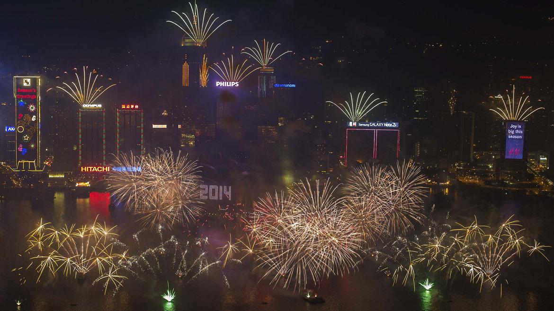 Año nuevo Hong Kong.