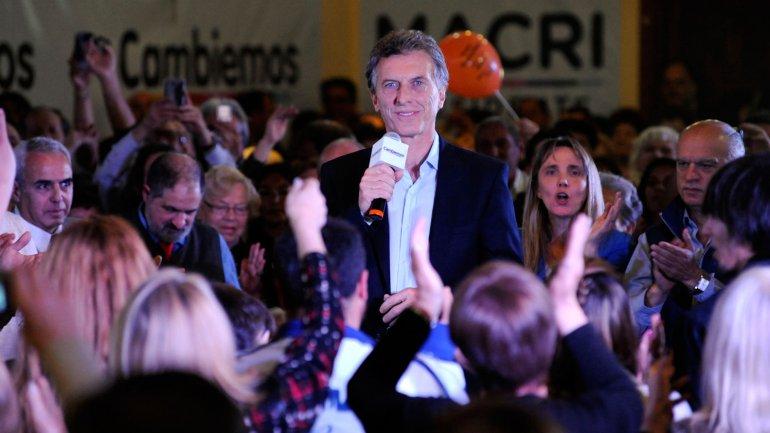 Mauricio Macri en Avellaneda