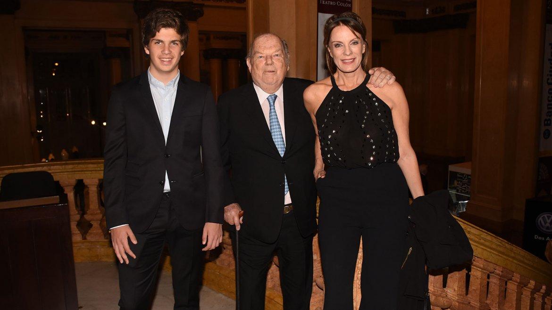 Bartolomé Mitre y Nequi Galotti acudieron a la gala junto a su hijo, Santos